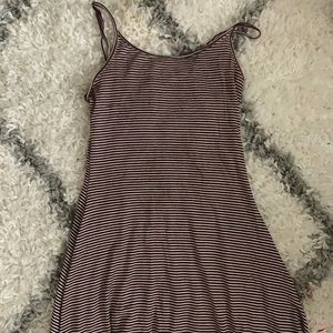 Red/White striped brandy Melville dress